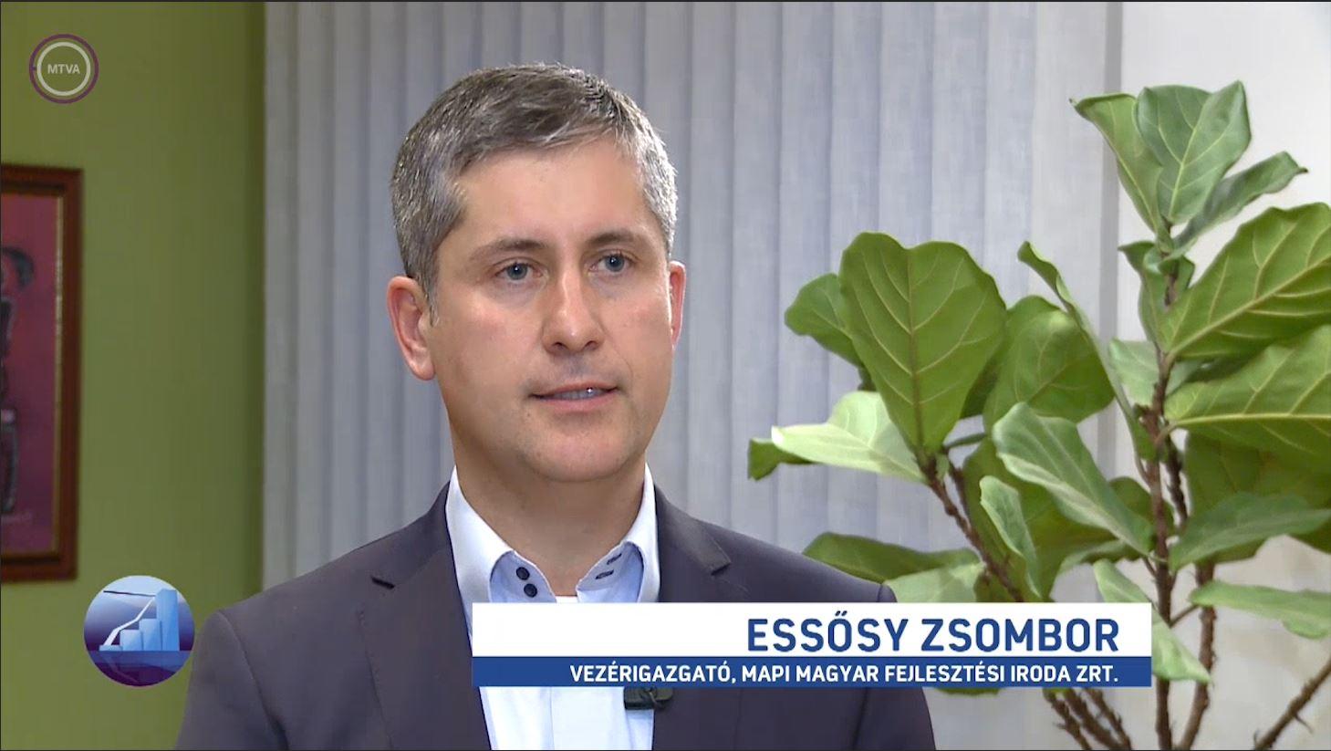 Essősy Zsombor az M1 Profit7 műsorában