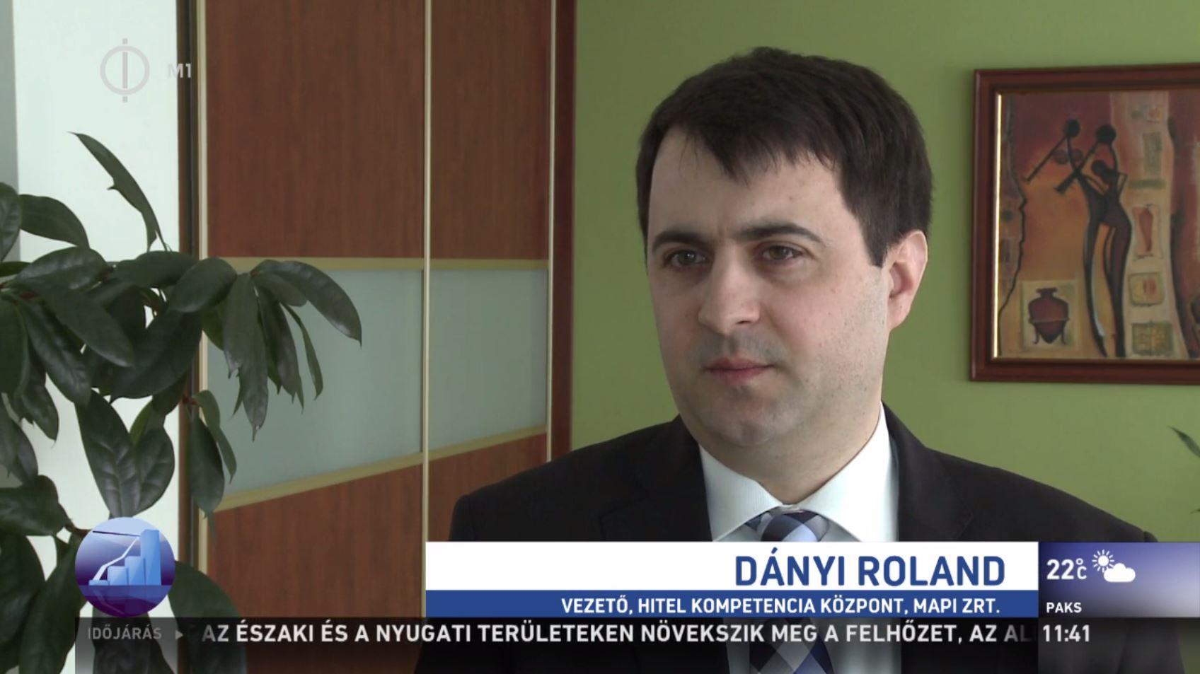 dr. Dányi Roland az M1 Profit7 műsorában