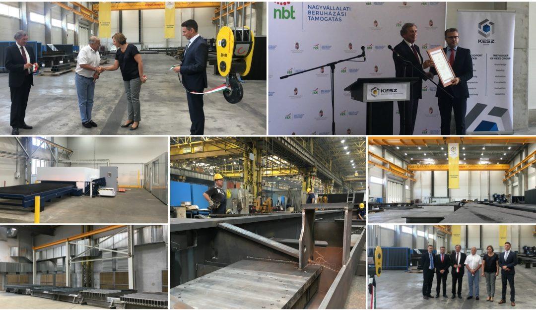 Új gyártócsarnokkal bővítette acélszerkezet-gyárát a KÉSZ Ipari Gyártó Kft. Kecskeméten