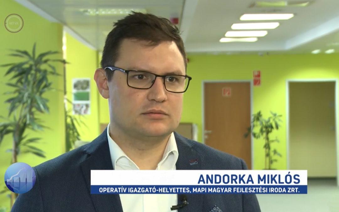 Andorka Miklós és Lőrincz Krisztián az M1 Forint, Fillér műsorában