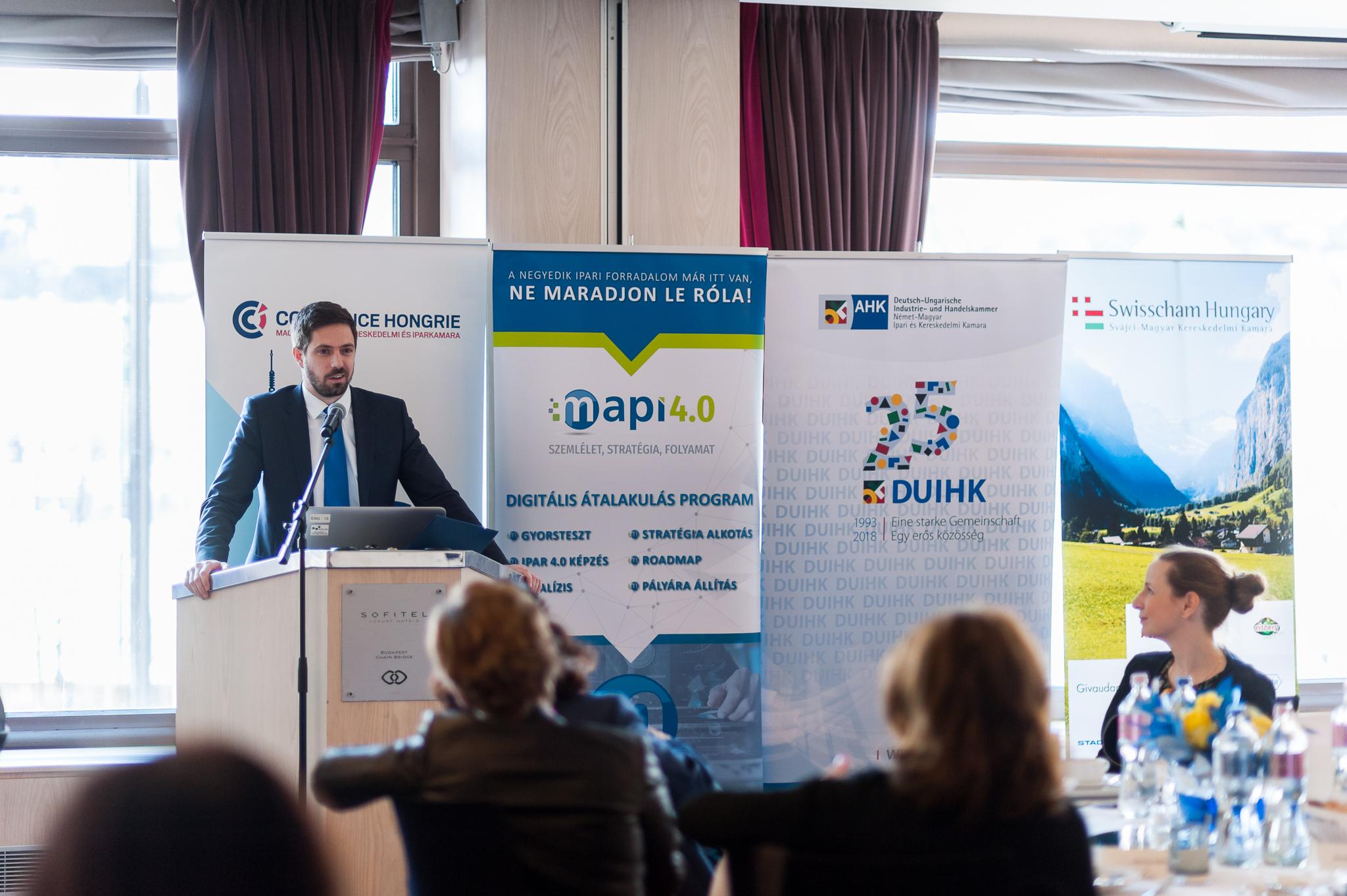 Sikeres üzleti ebéd valósult meg Magyar Leventével, a MAPI szakmai támogatásával