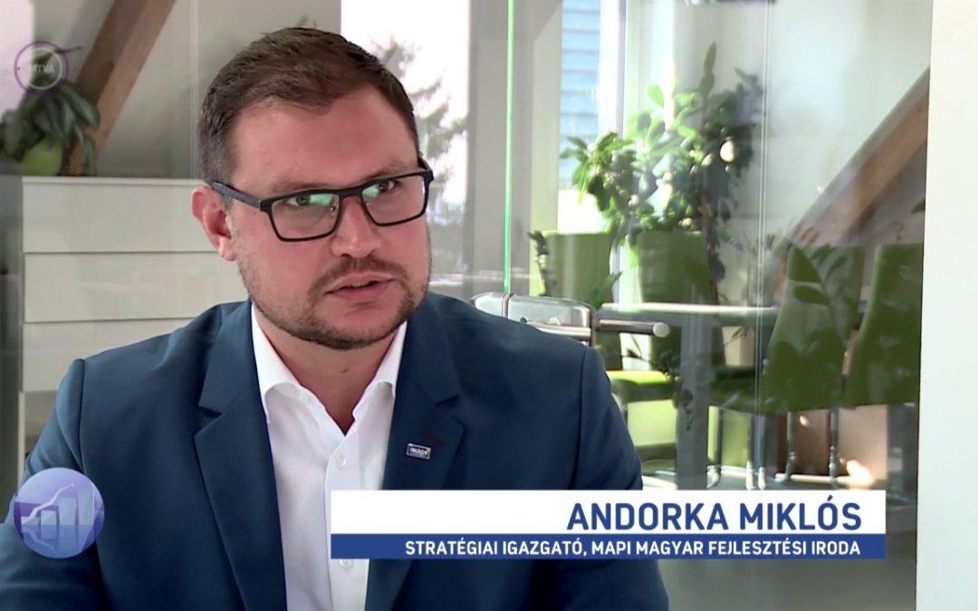 Az Irinyi-terv friss pályázatáról beszélt kollégánk az M1 Forint, Fillér műsorában