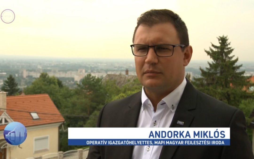 Az új gyakornoki programról az M1 Forint, Fillér műsorában