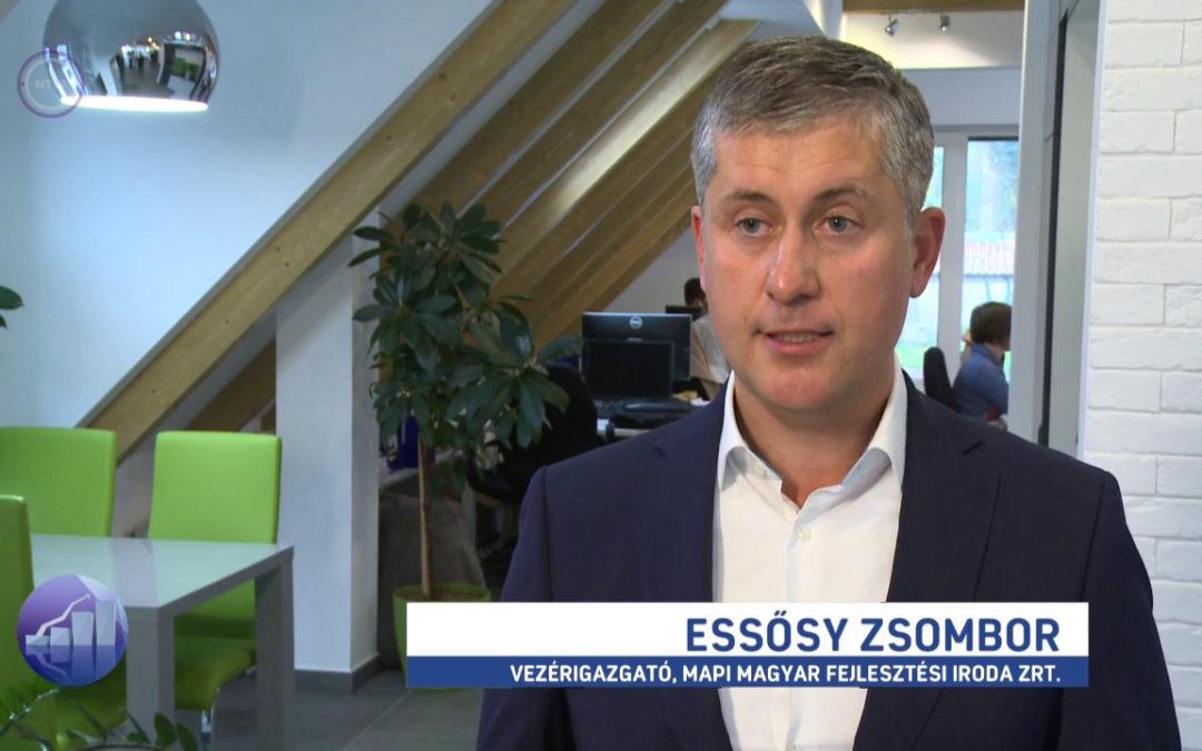 Essősy Zsombor az M1 Forint, Fillér évzáró műsorában