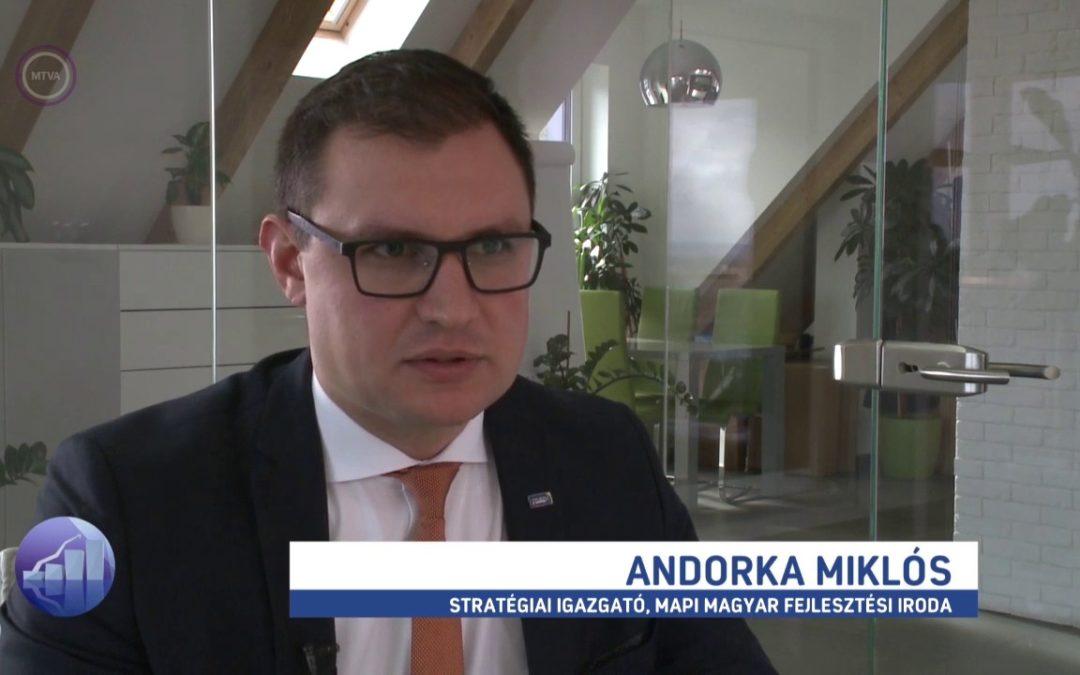 Andorka Miklós az M1 Forint, Fillér c. műsorában