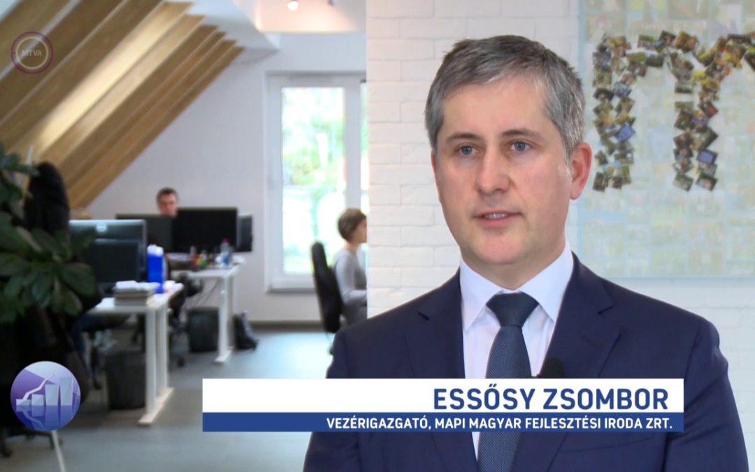 Essősy Zsombor az M1 Forint, Fillér műsorában