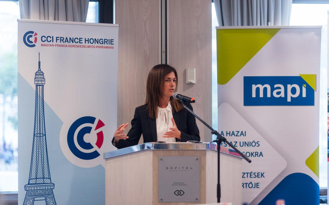 Sikeres üzleti ebéd valósult meg Dr. Varga Judit igazságügyi miniszterrel, a MAPI támogatásával