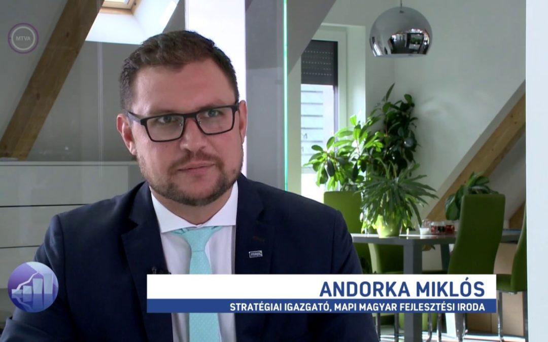Andorka Miklós az M1 Forint, Fillér című műsorában