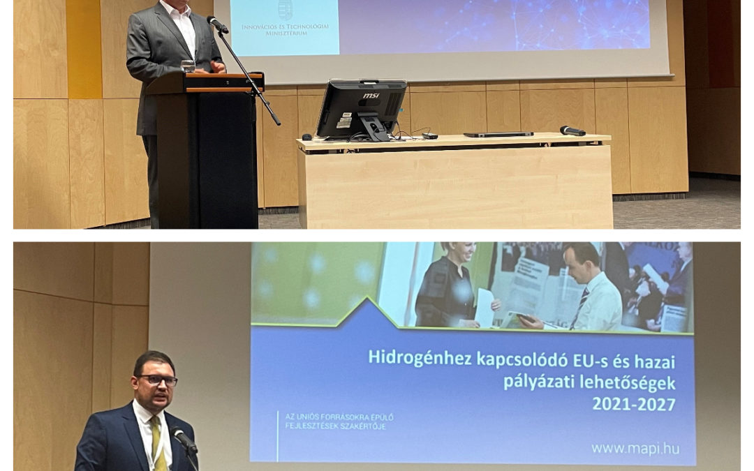 Előadásunk a Nemzeti Hidrogén Stratégia és a Hidrogéntechnológiai Fehér Könyv bemutató konferenciáján
